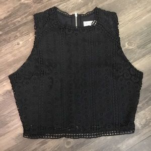 Abercrombie and Fitch Black Lace Crop Top
